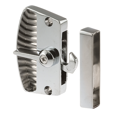 "Picture of A 105 - Deluxe Latch & Pull, 2-3/8"", Diecast, Chrome, Non-Handed"