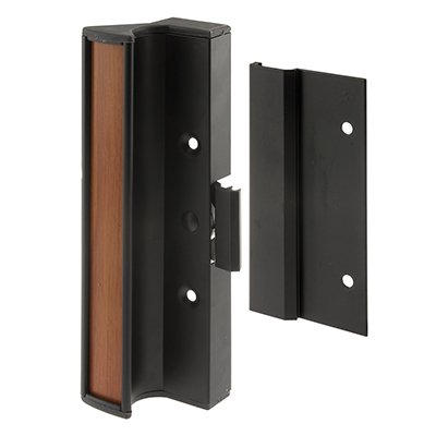 """Picture of C 1073 - Handle Set, 3"""" HC, Black, Surface Mount, Clamp Style"""