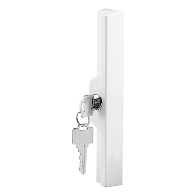"Picture of C 1120 - Outside Pull w/Key, 3"" to 6-7/8"" H.C., Diecast, White"