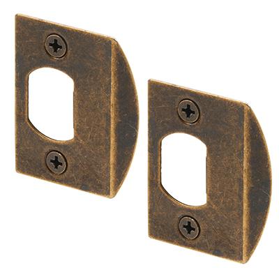 "Picture of E 2233 - Standard Latch Strike, 2-1/4"", Steel, Antique Brass"