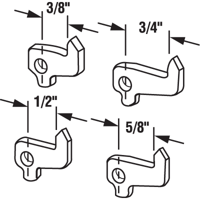 """Picture of E 2108 - Hook Set, Steel, 3/8"""",3/4"""",1/2"""",5/8"""""""