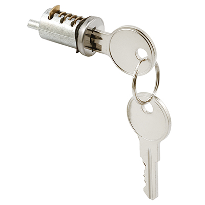 """Picture of E 2005 - Cylinder Lock, 13/16"""", Diecast, Wafer Type, 1"""" Thick Door"""
