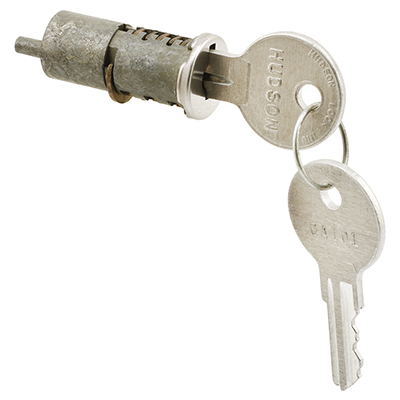 """Picture of E 2088 - Cylinder Lock, 1-1/4"""" Diecast, Wafer Type, 1-1/2"""" Thick Dr"""