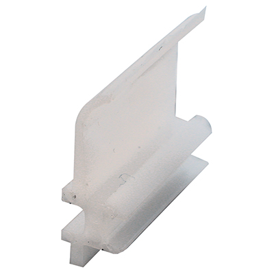 """Picture of G 3063 - Top guide, 1/4"""", Plastic, White"""