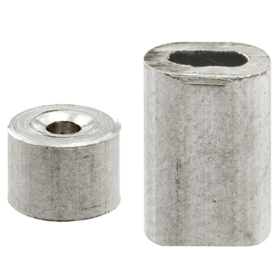 "Picture of GD 12150 - Cable Ferrules and Stops, 3/32"", Aluminum"