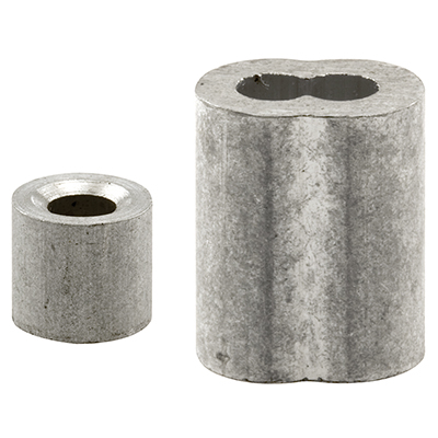 "Picture of GD 12151 - Cable Ferrules and Stops, 1/8"", Aluminum"