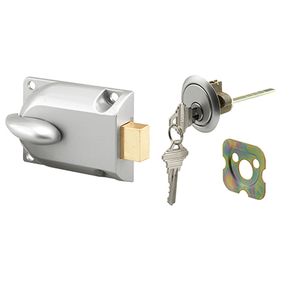 Picture of GD 52119 - DEADBOLT LOCK, CENTER MOUNT W/KEY CYLINDER, ALUMINUM PAINTED
