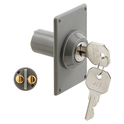 Picture of GD 52142 - Electric Key Switch, Gray Plastic Housing