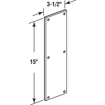 Picture of J 4718 - Door Push Plate