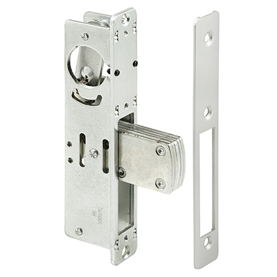 "Picture of J 4524 - Deadbolt Lock, 31/32"" Backset, Steel, Aluminum Finish"