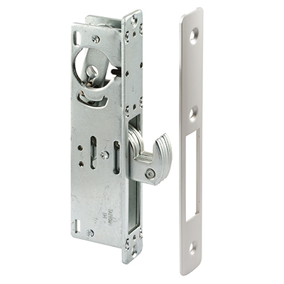 "Picture of J 4558 - Mortise Deadlock, 1-1/8"" Backset, Steel, Aluminum Finish"