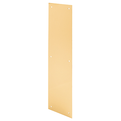 "Picture of J 4580 - DOOR PUSH PLATE, 4"" X 16"", POLISHED BRASS"