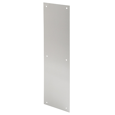 "Picture of J 4581 - DOOR PUSH PLATE, 4"" X 16"", SATIN ALUMINUM"