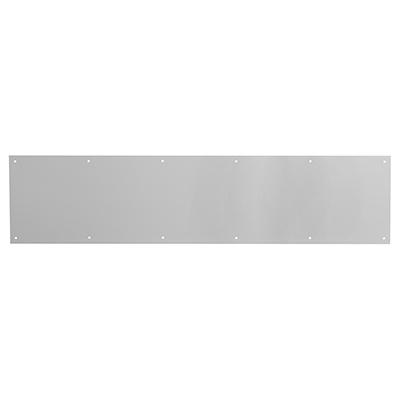 """Picture of J 4616 - Door Kick Plate, 34"""" X 8"""", Aluminum, Satin Aluminum Finish"""