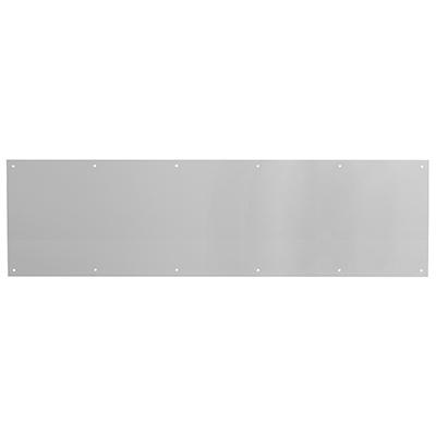 "Picture of J 4620 - Door Kick Plate, 10"" X 34"", Aluminum, Satin Finish"