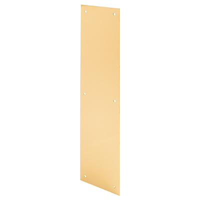 "Picture of J 4630 - DOOR PUSH PLATE, 4"" X 16"", BRITE BRASS ON ALUMINUM"