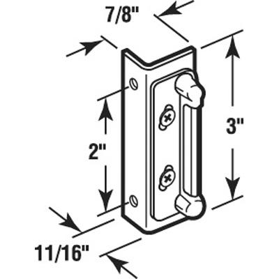 """Picture of K 5013 - Strike Plate, 2"""" HC, Aluminum, Double Door"""