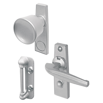 "Picture of K 5000 - Tulip Knob Latch, 1-3/4"", Diecast, Aluminum Color, LH/RH"