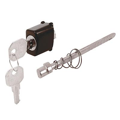 "Picture of K 5024 - Push Button Locking Unit, 1"" x 3/4"", Diecast, Black"