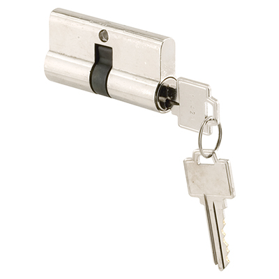 """Picture of K 5061 - Cylinder Lock, 2-9/32"""", Chrome Plated Brass, Kwikset-Weiser"""