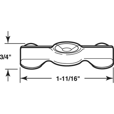 """Picture of PL 14843 - Double Wing Flush Clips, 1-11/16"""", Zinc Plated Steel, Qty 25"""