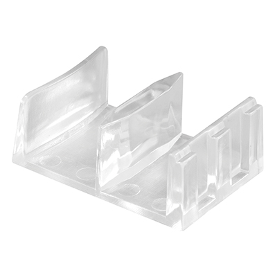 """Picture of M 6058 - Sliding Shower Doors Bottom Guide, 1-9/16"""", Plastic, Clear"""