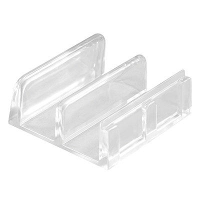 """Picture of M 6059 - Sliding Shower Door Bottom Guide, 1-7/16"""", Plastic, Clear"""