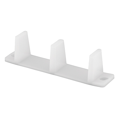 "Picture of N 6563 - Sliding Closet Door Bottom Guide, 4-3/16"", Plastic, White"