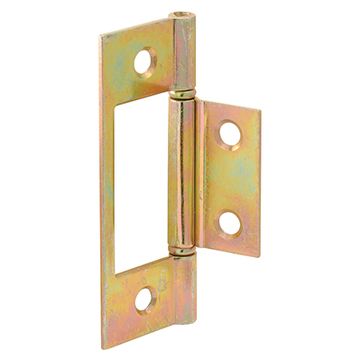 "Picture of N 6656 - Bi-Fold Door Non-Mortise Hinge, 2-5/16"" Hole Center, Steel"