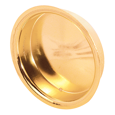 """Picture of N 6698 - Sliding Closet Door Pull Handle, 2"""" Dia, Steel, Brass Plated"""