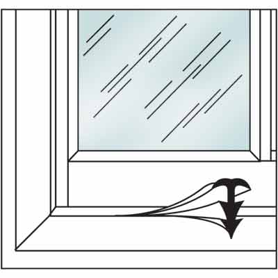 Picture of P 7628 - Air & Dust Window Strip (clear Vinyl)
