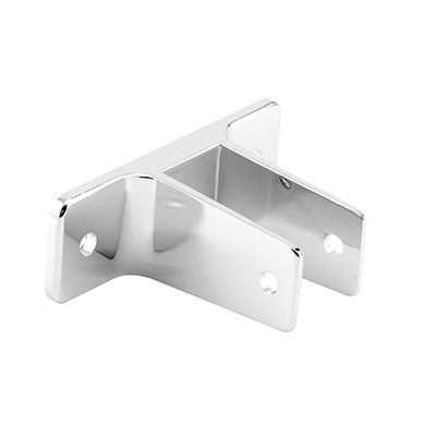"""Picture of PH 17015 - Two-ear Wall Bracket, 3"""" HC, for 1"""" Panels, Diecast, Chrome"""