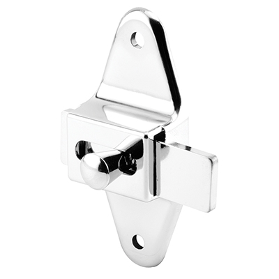"""Picture of PH 17040 - Slide Latch, 3-1/2"""" Hole Centers, Zamak, Chrome Plated"""