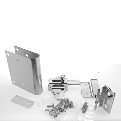 """Picture of PH 17199 - Partition Latch Repair Kit, 1"""", Stainless Steel, Inswing Dr"""