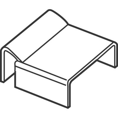 """Picture of PL 14308 - SPREADER BAR CLIPS, 7/8"""", MILL"""