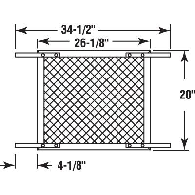 Picture of PL 16215 - Sliding Glass Door Track, 6', Aluminum, White