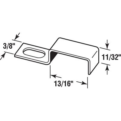 "Picture of PL 14691 - Screen Stretch Clips, 11/16"", Aluminum, Qty: 25 w/Screws"