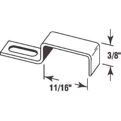 "Picture of PL 15738 - Screen Stretch Clips, 11/16"", Aluminum, Qty: 25 w/Screws"