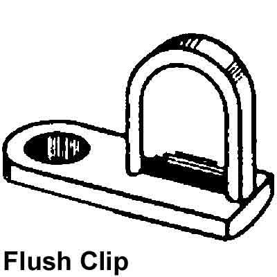 Picture of PL 14400 - FLUSH DIECAST SCREEN CLIP MILL 25EA