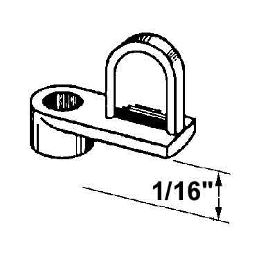 """Picture of PL 14412 - Screen Clips, 1/16"""", Diecast Plated Zinc, Silver, 25 w/Screw"""