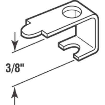 "Picture of PL 14603 - Casement Screen Clips, 3/8"", Aluminum, 25 Clips w/Screws"