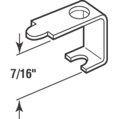 "Picture of PL 14606 - Casement Screen Clips, 7/16"", Aluminum, 25 Clips w/Screws"