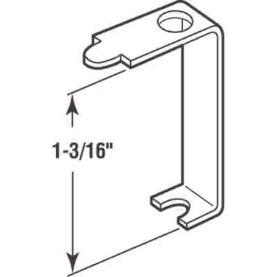 "Picture of PL 14612 - Casement Screen Clips, 1-3/16"", Aluminum, 25 Clips w/Screws"
