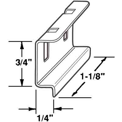 "Picture of PL 15550 - Spline Channel Pull Tabs, 1/4"", Aluminum"