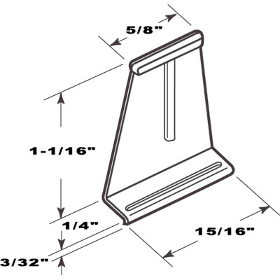 Picture of PL 14622 - SPLINE CHANNEL PULL TABS BLACK 100
