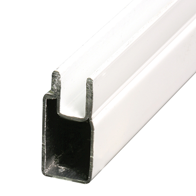 """Picture of PL 14154 - Aluminum Window Frame, 3/8"""" x 25/32"""", 72"""", .020 Gauge, White"""