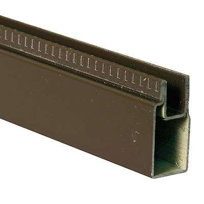 "Picture of PL 14156 - Aluminum Window Frame, 3/8""x25/32"", 94"" Long, .020 Gauge"