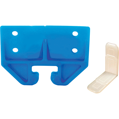 """Picture of R 7083 - Drawer Track Guide Kit, 3/4"""", Plastic, Blue, w/Side Saddles"""