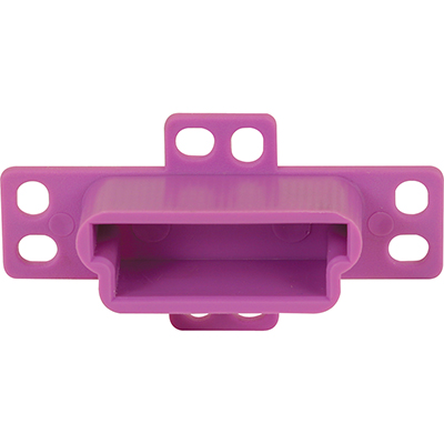 """Picture of R 7133 - Drawer Track Backplate, 1-1/4"""", Plastic, Purple"""