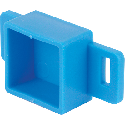 """Picture of R 7143 - Drawer Track Backplate, 1"""" Inside Width, Plastic, Blue"""